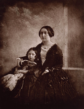 Earliest known photo of Queen Victoria, with her oldest daughter; photo from Wikipedia
