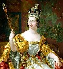 Queen Victoria in her coronation regalia, public domain