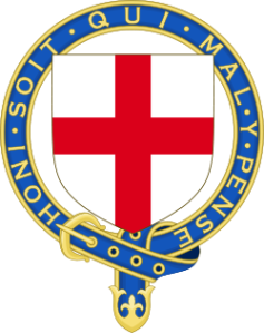 Arms of the Most Noble Order of the Garter; image from Wikipedia