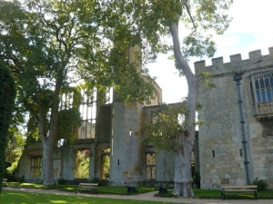 Sudeley Castle with ruins of banqueting hall