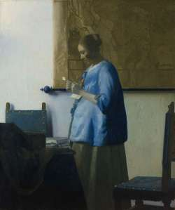 "Vermeer's ""Woman in Blue Reading a Letter,"" Rijksmuseum website"