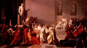 """Death of Caesar,"" 1798, VIncenzo Camuccini, public domain"