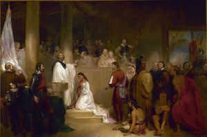 Baptism of Pocahontas, John Gadsby Chapman, 1840, Public Domain