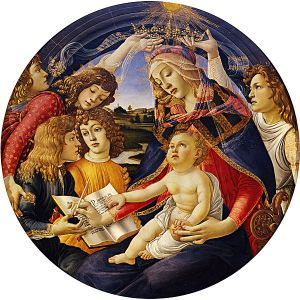 Madonna del Magnificat, Botticelli, Public Domain