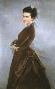 Self Portrait of Nelie Jacquemart, Public Domain