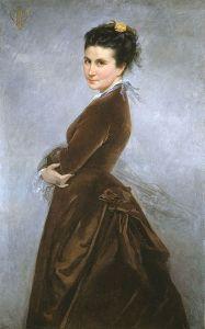 Self Portrait of Nelie Jacquemart, Public Domain