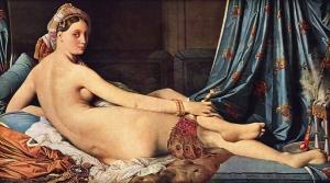 """""""La Grande Odalisque,"""" Ingres, 1814, Public Domain"""