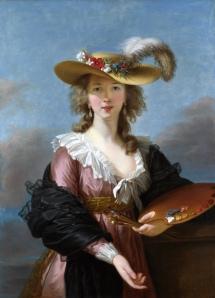 """Self-Portrait in a Straw Hat,"" Elisabeth Vigee-LeBrun, 1782, Public Domain"