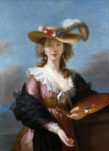 """Self-Portrait in a Straw Hat,"" Elisabeth Vigee-LeBrun, 1782, Public Domain"