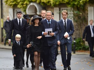 11th Duke's funeral procession, photo from Daily Mail article cited below