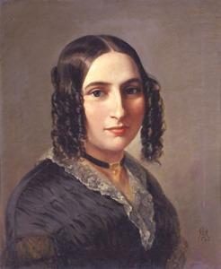 Fanny Mendelssohn Hensel, 1842, portrait by Moritz Daniel Oppenheim, Public Domain