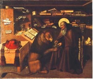 "Niccolo Antonio Colantonio, ""Jerome in his Study,"" c. 1440-1470, Public Domain, National Museum of Capodimonte"
