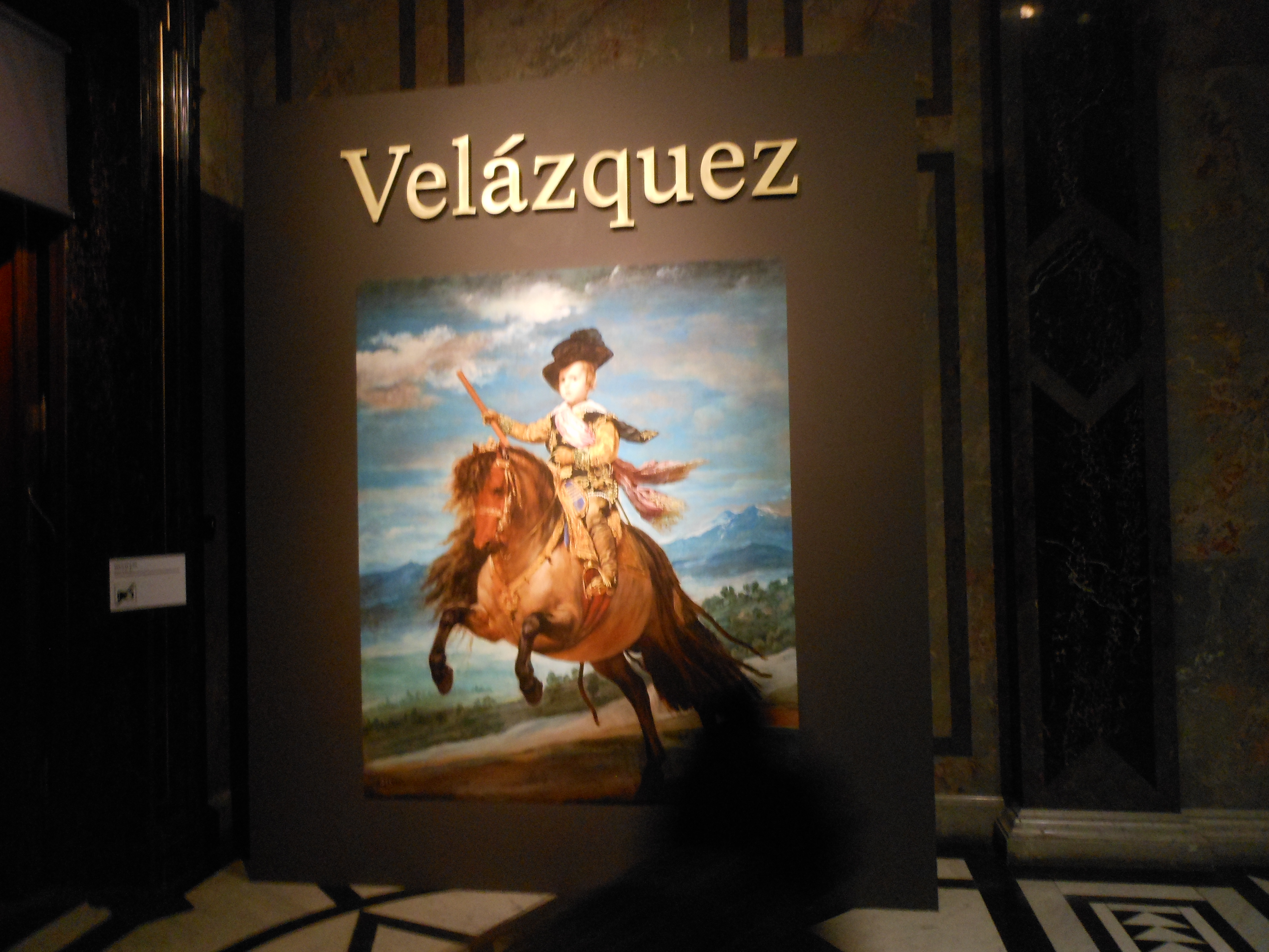 EQUESTRIAN PORTRAIT OF PRINCE BALTHASAR CHARLES BOY HORSE BY VELASQUEZ REPRO