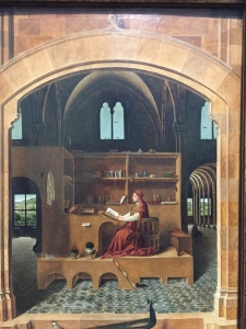 Antonello da Messina, Saint Jerome in his study, about 1475, my photo taken in National Gallery, London