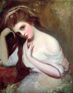 Portrait of Emma, Lady Hamilton, George Romney, c 1782-84, from History Today article cited