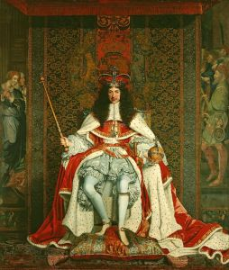 Charles II of England in Coronation Robes, John Michael Wright, 1661-1662, Public Domain