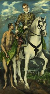 El Greco, St. Martin and the Beggar, circa 1597, Public Domain