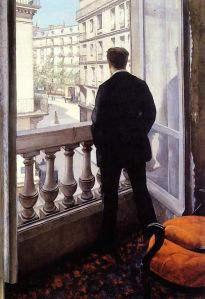 Young Man at a Window, Gustave Caillebotte,1875, Public Domain