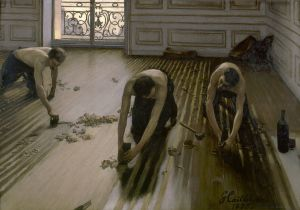 The Floor Scrapers, Gustave Caillebotte, 1875, Public Domain, Musee d'Orsay