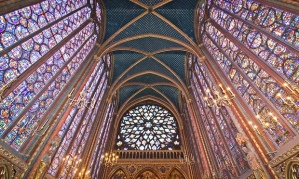 Sainte-Chapelle, interior, image from The Guardian article cited below