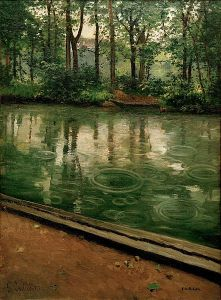 The Yerres, Effect of Rain, Gustave Caillebotte, 1875, GNU Free Documentation License