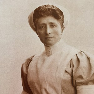 "Duchess of Bedford as a nurse, my photo taken from ""The Flying Duchess"" book cited above"