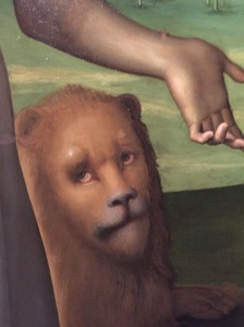 Detail from Il Perugino painting above