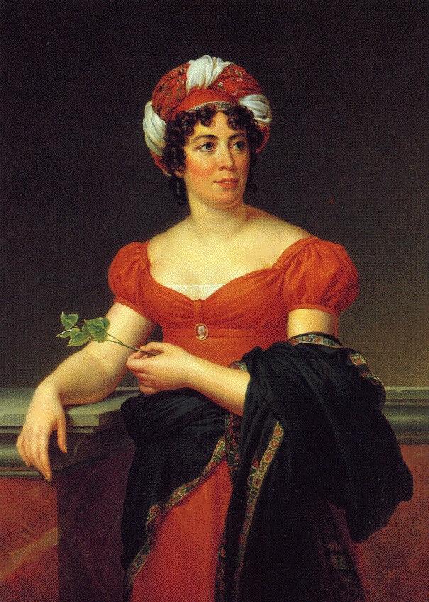 Germain de Stael, portrait by Francois Gérard, 1810, Public Domaine